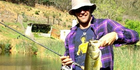 Bass fishing at Blommekloof Country Cottages in Ruiterbos, near Mossel Bay